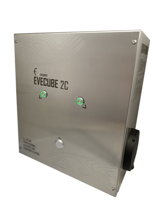 EVECUBE 2C - 2x22kW AC charging station (OCPP 1.6 + Smart WebServer + consumption measurement + WiFi)