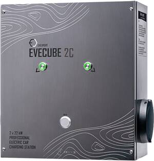 EVECUBE 2C - 2x22kW AC charging station (OCPP 1.6 + Smart WebServer + RFID + consumption measurement + WiFi)