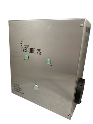 EVECUBE 2S - 2x22kW AC charging station (Smart WebServer + consumption measurement + WiFi)